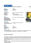 Chemtex - Model SPK50-O-W - Oil Only Spill Kit - Datasheet