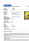 CHEMTEX - Model OILM7096 - 3-D Spill Response Equipment Sign - Datasheet