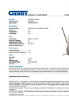 Chemtex - Model OILM090 - Danforth Anchor, 22 lbs. - Datasheet