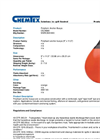 Chemtex - Model OILM088 - Polyfoam Anchor Buoys - Datasheet