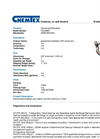 Chemtex - Model OILM089 - Anchor Shackles - Datasheet