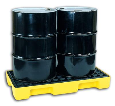 CHEMTEX - Model 1632 - 2 Drum Spill Pallet, Low Profile, 32 Gal