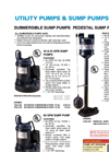 Submersible Sump Pumps-40 GPM