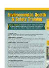 Environmental, Health & Safety Training Brochure