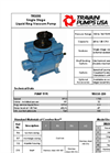 Model TRSE50 - Single Stage Liquid Ring Vacuum Pump- Brochure