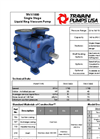 Travaini Pumps - Model TRVX1000 - Single Stage Liquid Ring Vacuum Pump - Brochure