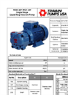 Travaini Pumps - Model TRMX 257/TRVX 257 - Single Stage Liquid Ring Vacuum Pump - Cutsheet