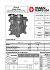 Travaini Pumps - Model TRVA 65 - Single Stage Liquid Ring Vacuum Pump - Cut Sheet