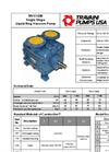 Travaini Pumps - Model TRVX 1253/1255/1257 - Single Stage Liquid Ring Vacuum Pump - Cut Sheet
