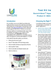 LuminUltra Water - Model QGA™ - Quench-Gone Aqueous (QGA) Aqueous Test Kit - Brochure