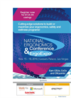 The National Ergonomics Conference and ErgoExpo 2016 - Brochure