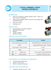 Brass Ball Valves F / F - Standard Bore - Red Steel Flat Handle- Brochure