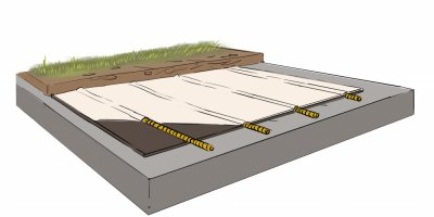 AFITEX - Model Coverdrain FT - Drainage of Roof Terraces and Sports Fields