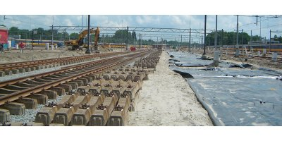 Geotextiles solutions for railway construction sector