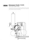 Rotavapor - Model R-210/R-215 - Evaporation System Technical Data Sheet