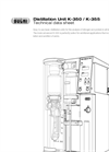 BÜCHI K-350 / K-355 Distillation Unit - Technical Datasheet