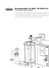Model  B-390 / B-395 Pro - Encapsulator Technical Datasheet