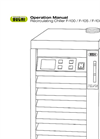 BUCHI - Model F-105 / F-108 / F-114 - Recirculating Chiller Operation Manual