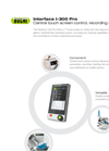BÜCHI - Model Interface I-300 Pro - Central Touch Screen Control, Recording & Charting System - Brochure