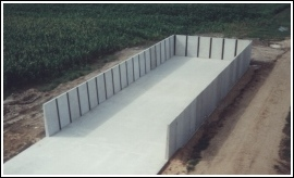 Precast Concrete Storage Facility for Dewatered Biosolids