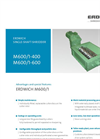 Erdwich M600/1¬400 & M600/1¬600 Single Shaft Shredder - Datasheets