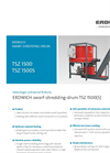 Erdwich TSZ 1500 & TSZ 1500S Swarf-Shredding-Drum Datasheet