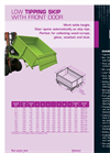 GOUBARD - Model BS - Tipping Skip - Brochure