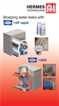Stopping Water Leaks with Ergelit 10F rapid Poster