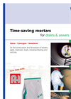 Time-Saving Mortars for Drains & Sewers Brochure