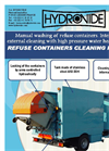 Manual Refuse Containers Cleaning Machines Brochure