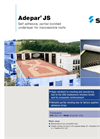 Adepar - JS Series - Self Adhesive, Partial-Bonded Underlayer for Inaccessible Roofs Brochure