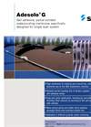 Adesolo - G Series - Self Adhesive, Partial-Bonded Waterproofing Membrane Brochure
