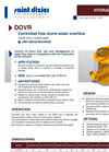 Model DOVR - Controlled Flow Storm Water Overflow System- Brochure