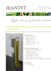 Container for the Collection of Used Inkjet Cartridges - Brochure