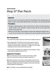 Stop It - Flat Patch - Product Instructions Manual