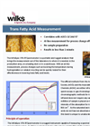 Trans Fat in Oil Spectrometer - Brochure