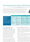 InfraCal 2 - TOG/TPH Solvent Selection Analyzers Guide - Brohure