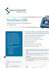 FerroCheck 2000 Magnetic Wear Metal Measurement In Lubricants - Brochure