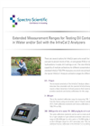 White Paper - Extended Measurement Ranges for Testing Oil Content in Water and/or Soil with the InfraCal 2 Analyzers