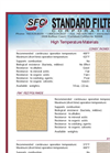 High Temp Material Descriptions and Specifications Brochure