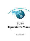 PUF+ and PUF+BL - Polyurethane Foam Sampler Manual