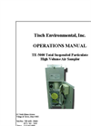 TE-5000 - TSP (Total Suspended Particulate) High Volume Air Sampler Manual