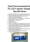 TE-123 Canister Sampler Specification Sheet