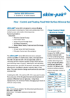 Skim-pak - Series 600 - Flow - Control and Floating Fixed Weir Surface Skimmer Systems Brochure