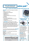 Skim-pak - Series 2500 - Stainless Steel Flow - Control and Floating Fixed Weir Surface Skimmer Systems Brochure
