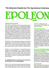 Epoleon - Model N-100 - Odor Control Neutralizer - Specifications