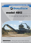 DuraTech - Model 4012 - Fifth Wheel w/ Grapple Loader - Tub Grinder Brochure