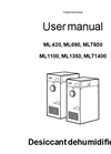 Munters ML1350 Desiccant Dehumidifier - User Manual