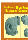 High Pressure Backward Curved Fans Brochure