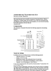 Anemometer Transmitter Kit Manual